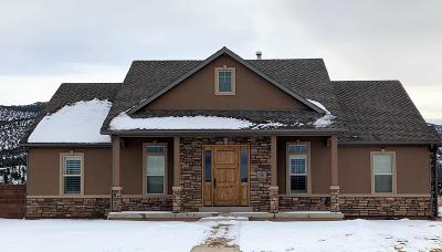 Parowan Single Family Home For Sale: 1361 W 375 S