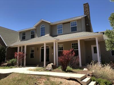Parowan Single Family Home For Sale: 1627 W 950 S