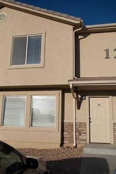 Cedar City UT Condo/Townhouse For Sale: $125,000