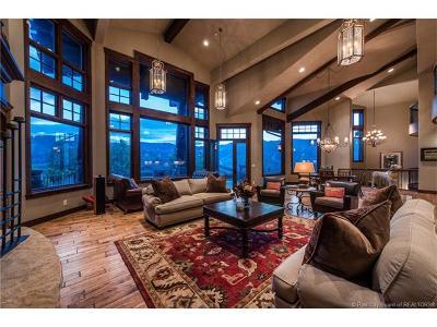 Park City UT Single Family Home For Sale: $4,000,000