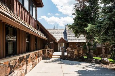 Park City Single Family Home For Sale: 1609 Tollgate Canyon Road