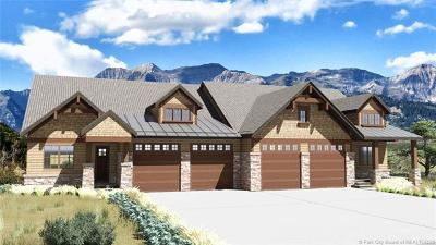 Heber City Single Family Home For Sale: 1625 E Abajo Peak Cir. (Lot TV-26)