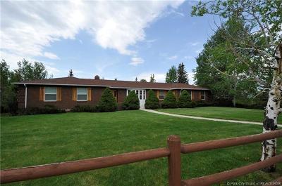 Oakley, Peoa Single Family Home For Sale: 545 W 5880 North