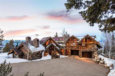 Park City UT Single Family Home For Sale: $9,998,000