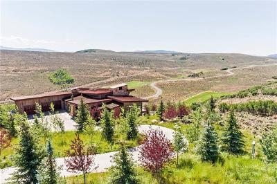 Park City UT Single Family Home For Sale: $5,000,000