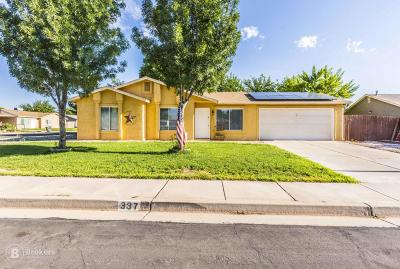 Ivins Single Family Home For Sale: 337 E 580 S