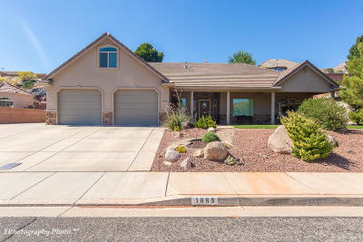 St George Single Family Home For Sale: 1889 N Lava Flow Dr