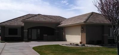 Hurricane Single Family Home For Sale: 1367 W 100 N
