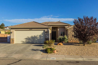 St George Single Family Home For Sale: 2267 E Panorama Parkway