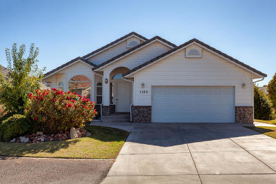 St George Single Family Home For Sale: 1180 E Hubbard Place