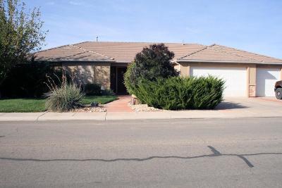 Hurricane Single Family Home For Sale: 1091 N 100 W