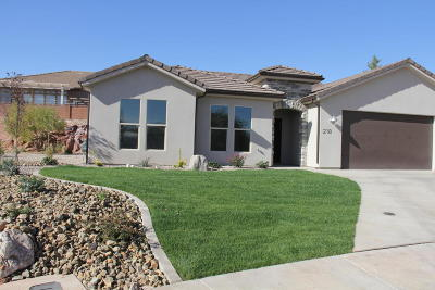 St George Single Family Home For Sale: 218 S 2040 E Cir