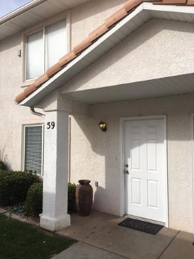 St George Condo/Townhouse For Sale: 1301 W Indian Hills Dr #59