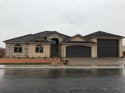 Hurricane Single Family Home For Sale: 3692 W 2900 S #Lot E-62