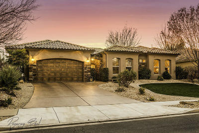 St George UT Single Family Home For Sale: $535,000