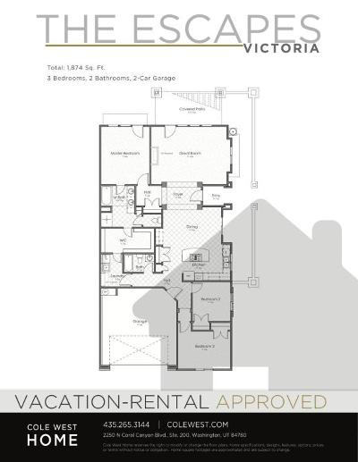 St George Condo/Townhouse For Sale: 5028 N Escapes Dr #Lot 322
