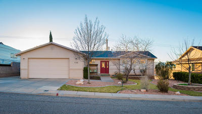 St George UT Single Family Home For Sale: $340,000