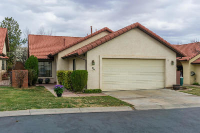 St George Single Family Home For Sale: 301 S 1200 E #76