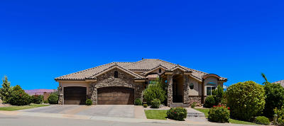 St George UT Single Family Home For Sale: $595,000