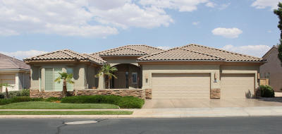 St George UT Single Family Home For Sale: $559,900