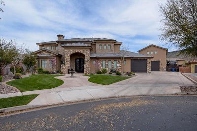 St George Single Family Home For Sale: 1602 W Chateau Cir