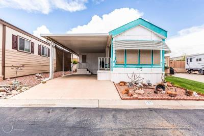 Washington UT Single Family Home For Sale: $85,000