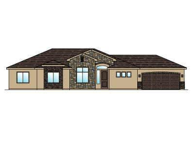 St George Single Family Home For Sale: Lot 85 1630 E. 2450 S.