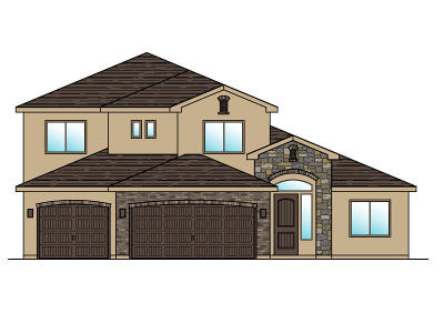 St George Single Family Home For Sale: Lot 101 1630 E. 2450 S.