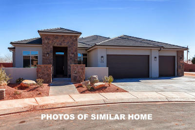 Ivins Single Family Home For Sale: 553 W Cougar Way #Lot 22