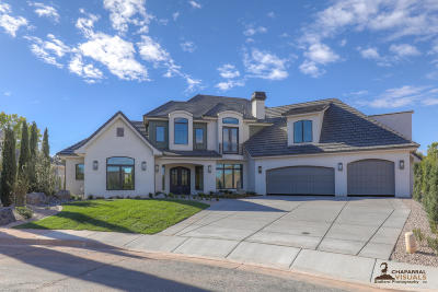 St George UT Single Family Home For Sale: $1,100,000