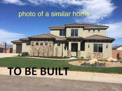 St George Single Family Home For Sale: Lot 27 Vineyards Ridge