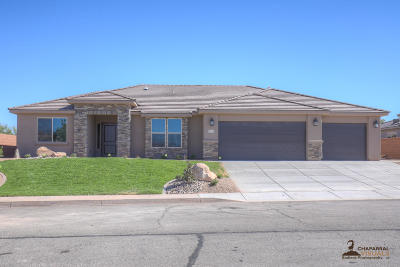 St George Single Family Home For Sale: 2321 W Courtyard Dr