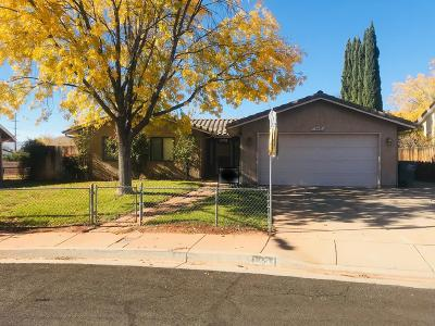 St George UT Single Family Home For Sale: $220,000