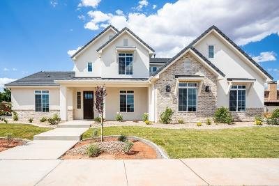 St George Single Family Home For Sale: Lot 6 Vineyards Ridge