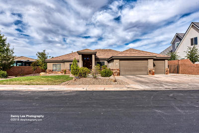 St George Single Family Home For Sale: 3044 S Slate Ridge Dr