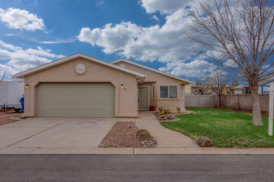 Ivins Single Family Home For Sale: 28 E 550 S