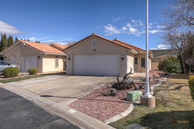 Ivins, Santa Clara, St George, Washington Single Family Home For Sale: 1360 E Telegraph St #10