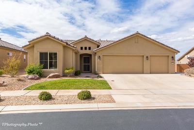 Ivins, Santa Clara, St George, Washington Single Family Home For Sale: 1346 W Garnet Ridge Dr