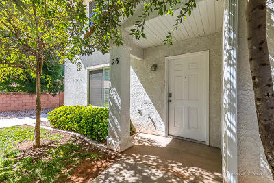 St George Condo/Townhouse For Sale: 1301 W Indian Hills Dr #25