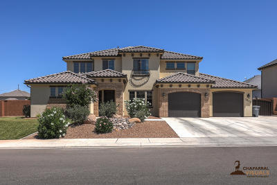 St George Single Family Home For Sale: 3033 E Aster Dr