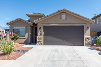 Hurricane  Single Family Home For Sale: 778 W 400 N