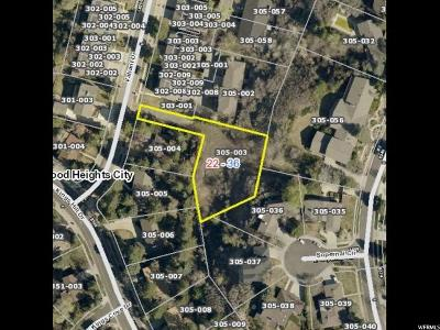 Cottonwood Heights Residential Lots & Land For Sale: 8337 S Valiant Dr. E
