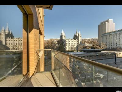 Salt Lake City Condo For Sale: 55 W South Temple St #502