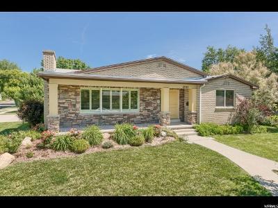 Salt Lake City Single Family Home For Sale: 1905 E St Marys Dr