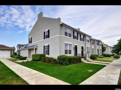 South Jordan Townhouse For Sale: 4536 W Cave Run Ln