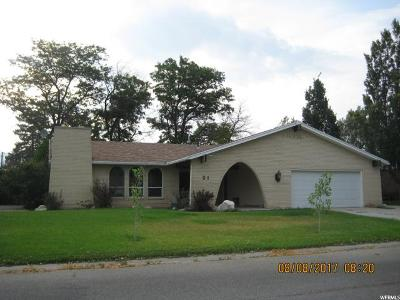 Tremonton Single Family Home For Sale: 21 S Amber
