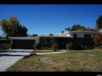 Holladay Single Family Home For Sale: 4284 S Vallejo Dr E
