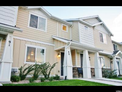 Saratoga Springs Townhouse For Sale: 89 E Legacy Pkwy S