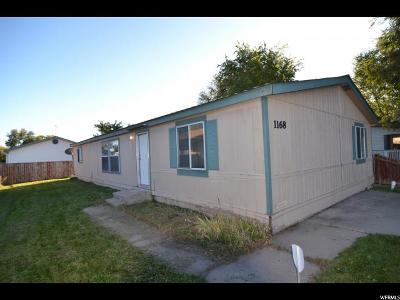 Logan Single Family Home For Sale: 1168 W 1960 S
