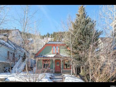 Park City Single Family Home For Sale: 539 Park Ave